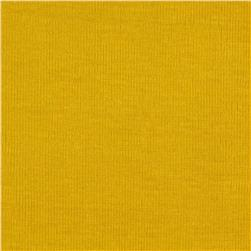 Stretch Brushed Baby Rib Knit Yellow