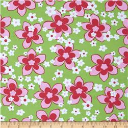 Swimwear Knit Floral Hot Pink/Green