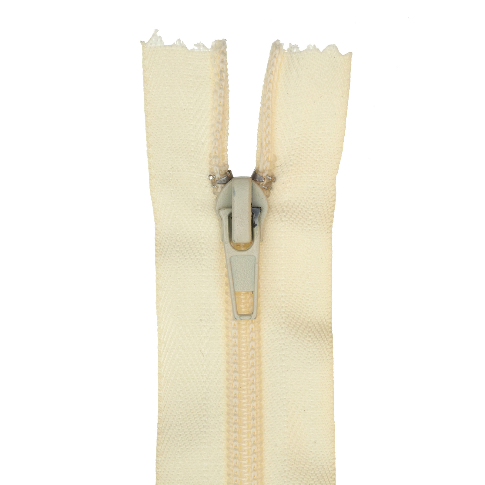 Nylon Upholstery Zipper 30'' Cream