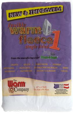 "Warm Fleece 1 Fusible 45"" x 36"" Batting"