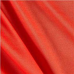 Nylon Activewear Knit Solid Scarlet Orange
