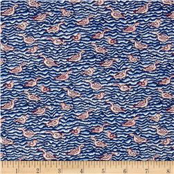 Liberty of London Tana Lawn Gaggle Blue/Maroon