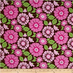Calico Collection Floral Pink/Brown/Lime