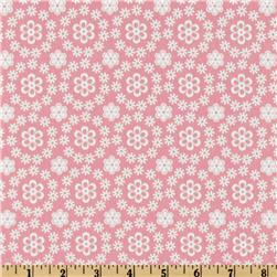 Cozy Cotton Flannel Daises All Over Pink