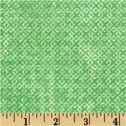 Criss Cross Flannel Green Fabric