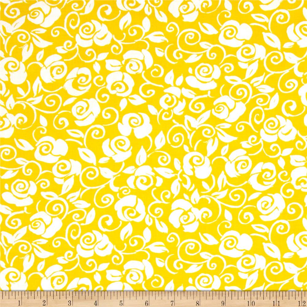 Fiona Floral Scroll Yellow