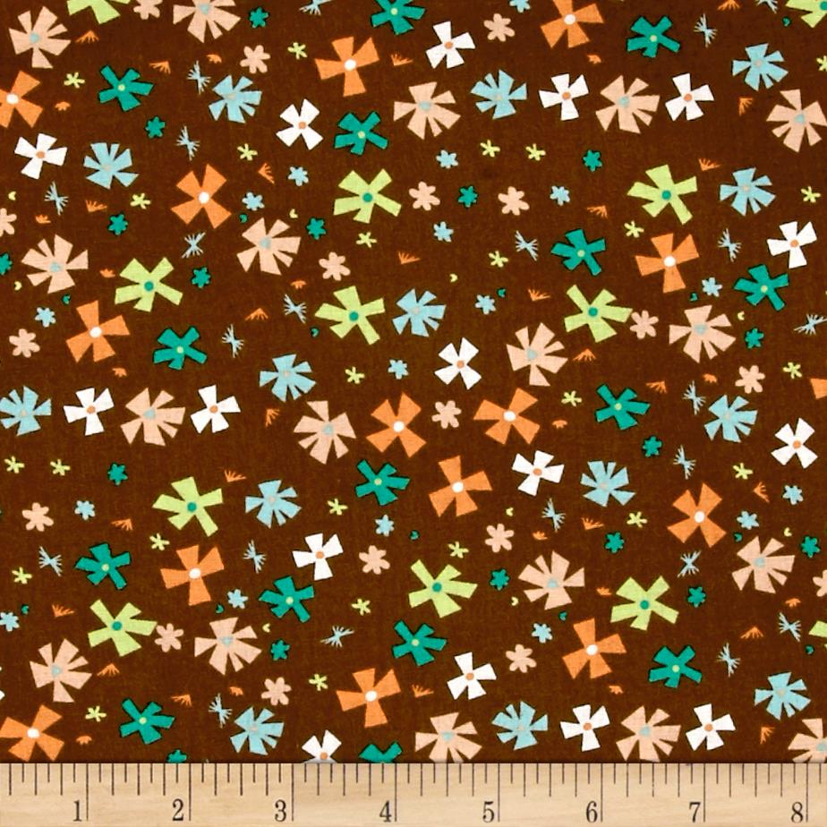 Wonderful Woodlands Geo Floral Brown