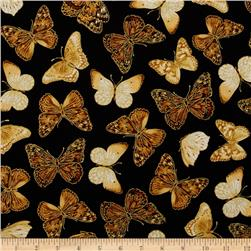 Kanvas Forever Butterflies Metallic Garden Butterfly Black/Natural