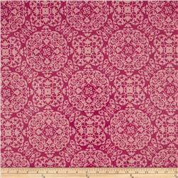 Michael Miller Laminated Cotton Vintage Ironwork Berry