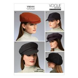 Vogue Hats Pattern V9044 Size OSZ