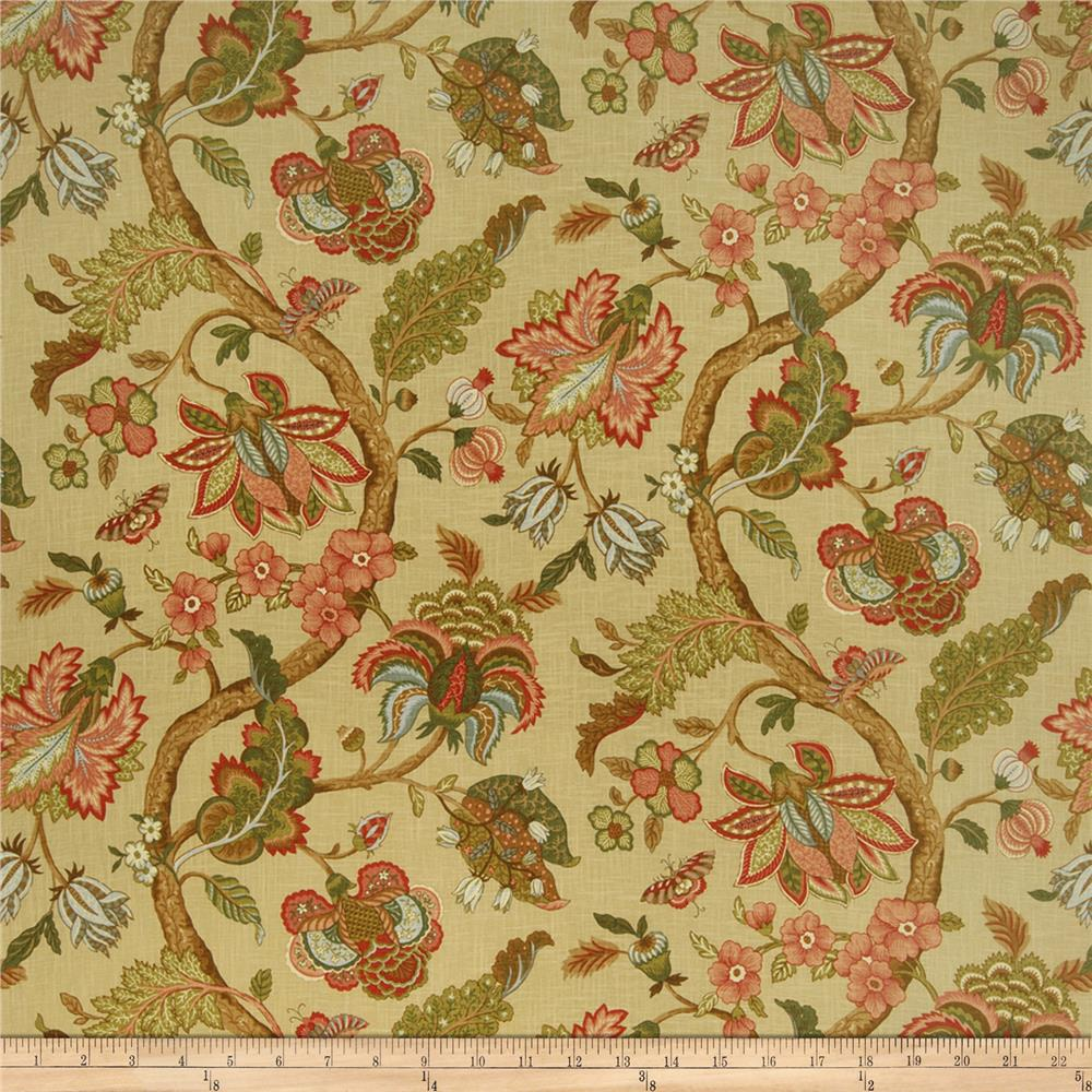 Jaclyn Smith Virginia Floral Blend Document Fabric By The Yard