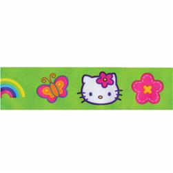 "7/8"" Hello Kitty Rainbow Ribbon Green"