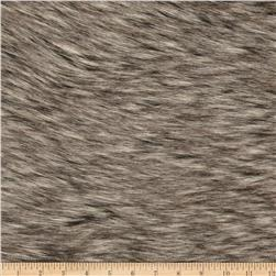 Faux Fur Black Fox Fur Charcoal/Black Fabric