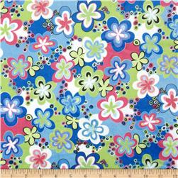 Minky Happy Talk Blue/Lime Fabric