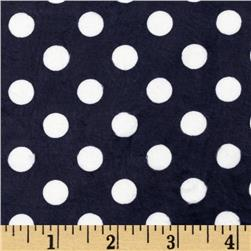 Minky Cuddle Minnie Dots Navy/White