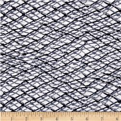 Kanvas Neptune's Dreams Fish Net White Fabric