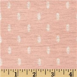 Designer Soft Jersey Knit Oval Dots Pink/White