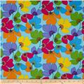 Calypso Frogs Spring Flowers Blue/Multi