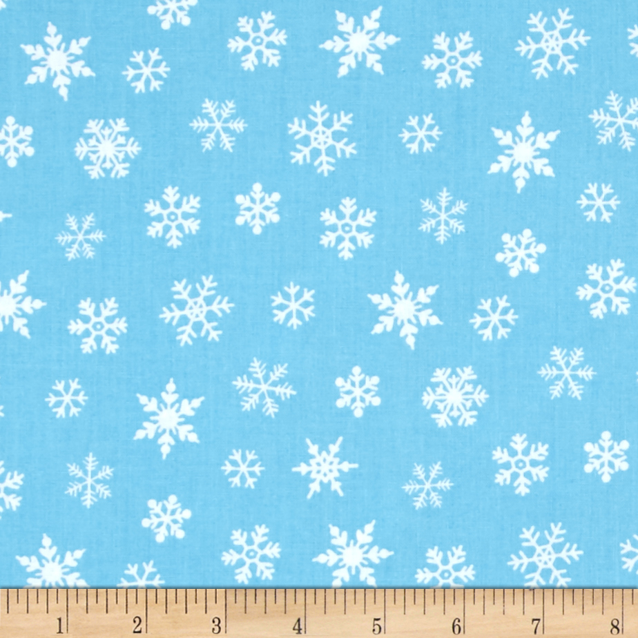 Susybee Gwyn the Penguin Snowflake Blue Fabric by Susybee in USA