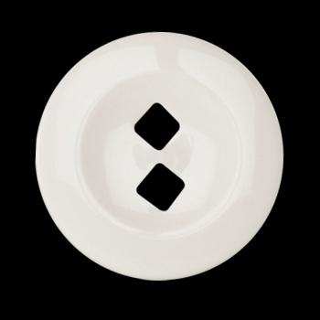 Fashion Button 1 1/4'' On Point White