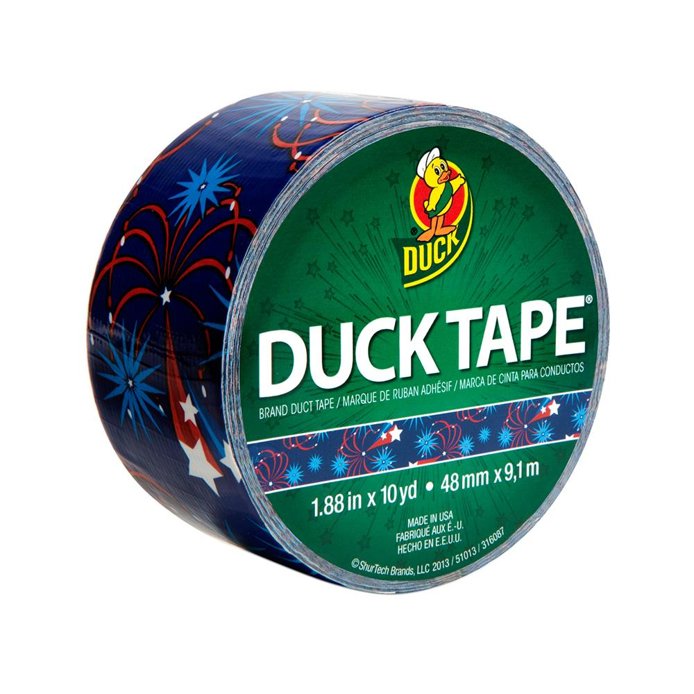 "Patterned Duck Tape 1.88"" x 10yd-Patriotic Firecrackers"