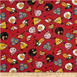 Angry Birds Tossed Birds Red Fabric