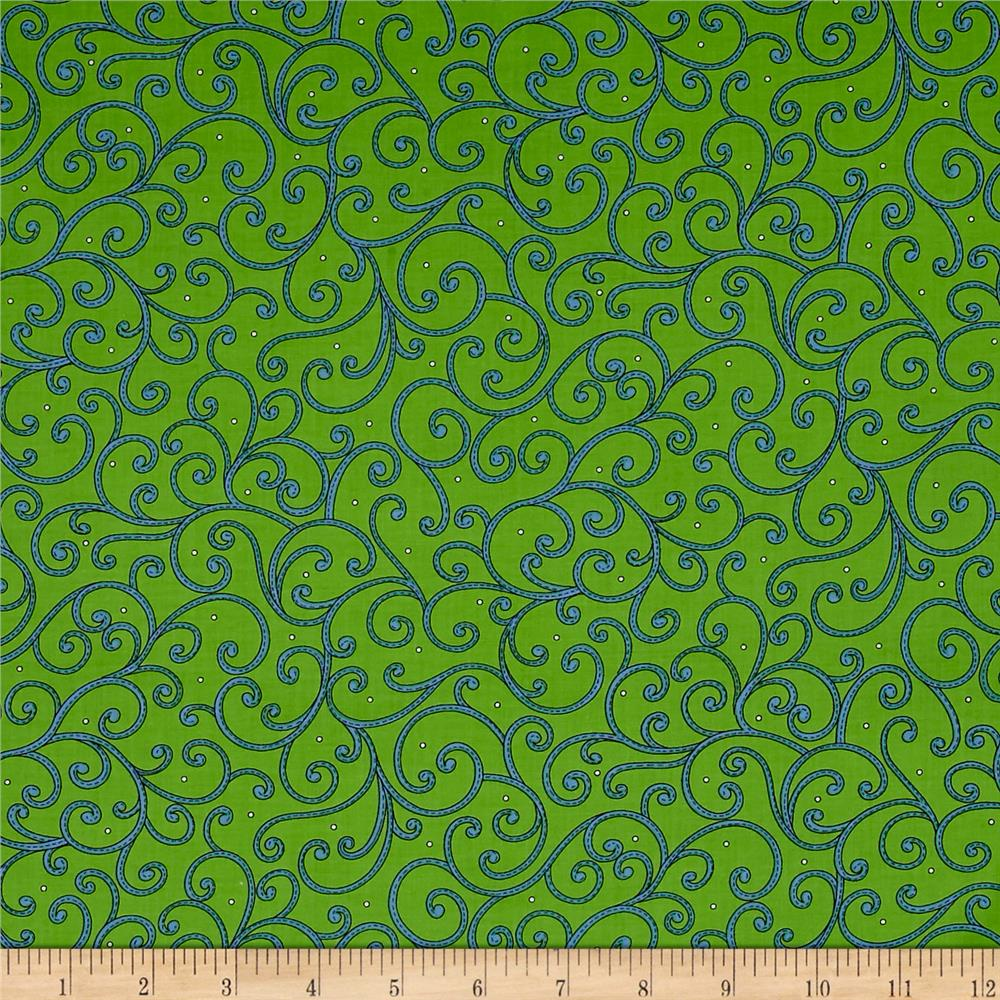 Imperial Paisley Scroll Lime