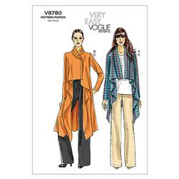Vogue Misses' Jacket and Pants Pattern V8780 Size 0Y0