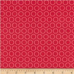 Riley Blake Just Dreamy 2 Flannel Circles Red