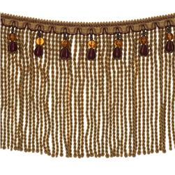 "Fabricut 9"" Mountain Resort Bullion Fringe Autumn"