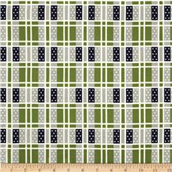 Cotton & Steel Lucky Strikes Domino Plaid Grass