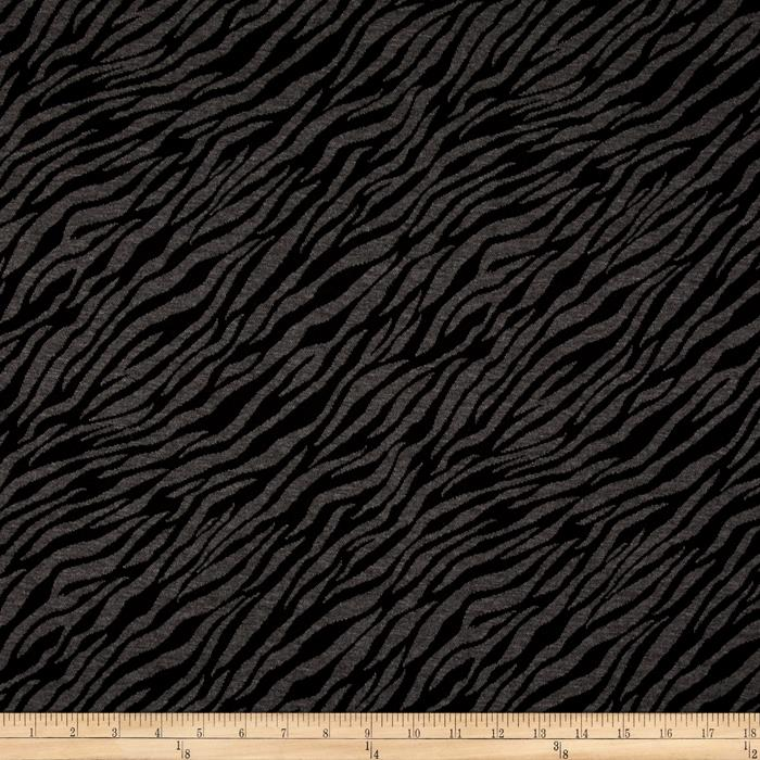Jacquard Knit Zebra Print Black/Grey
