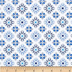 Sing the Blues Tile White/Navy