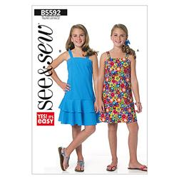 Butterick Girls' Dress Pattern B5592 Size 0A0