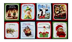 "Kaufman Santa's Sidekicks Digital 24"" Panel Holiday"