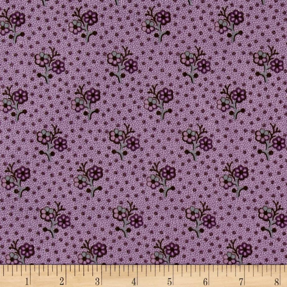 Cozies Flannel Flower Purple Fabric By The Yard