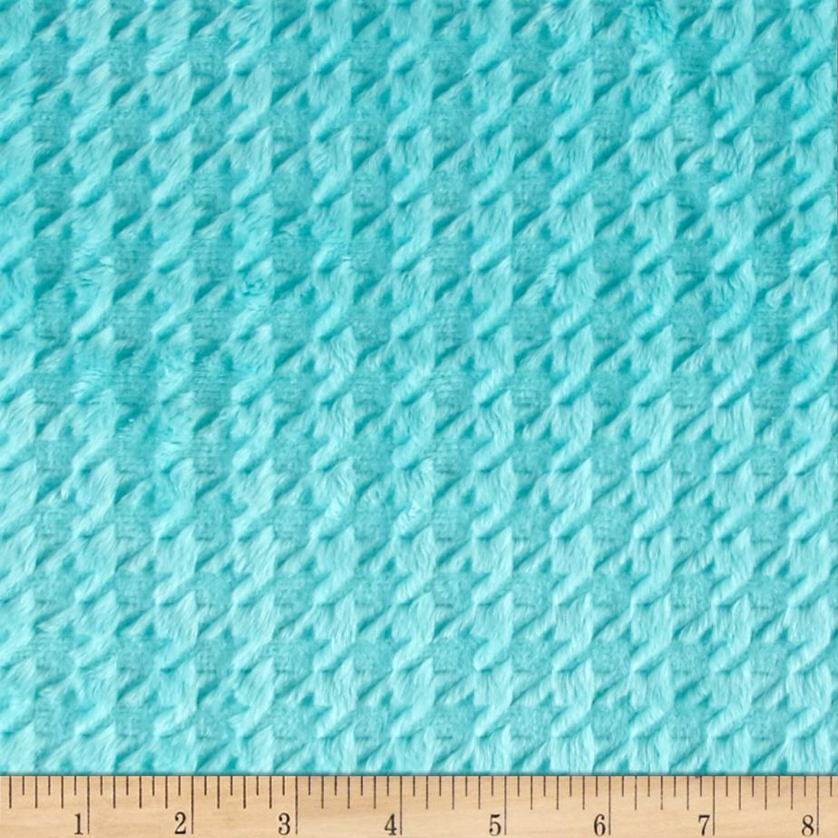 Shannon Minky Embossed Houndstooth Aruba