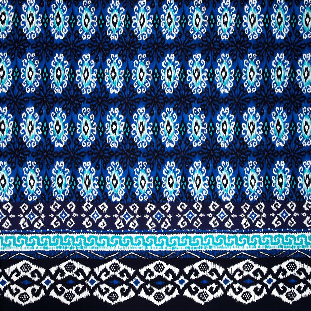 Michael Miller Single Border Kasbah Yasmin Indigo