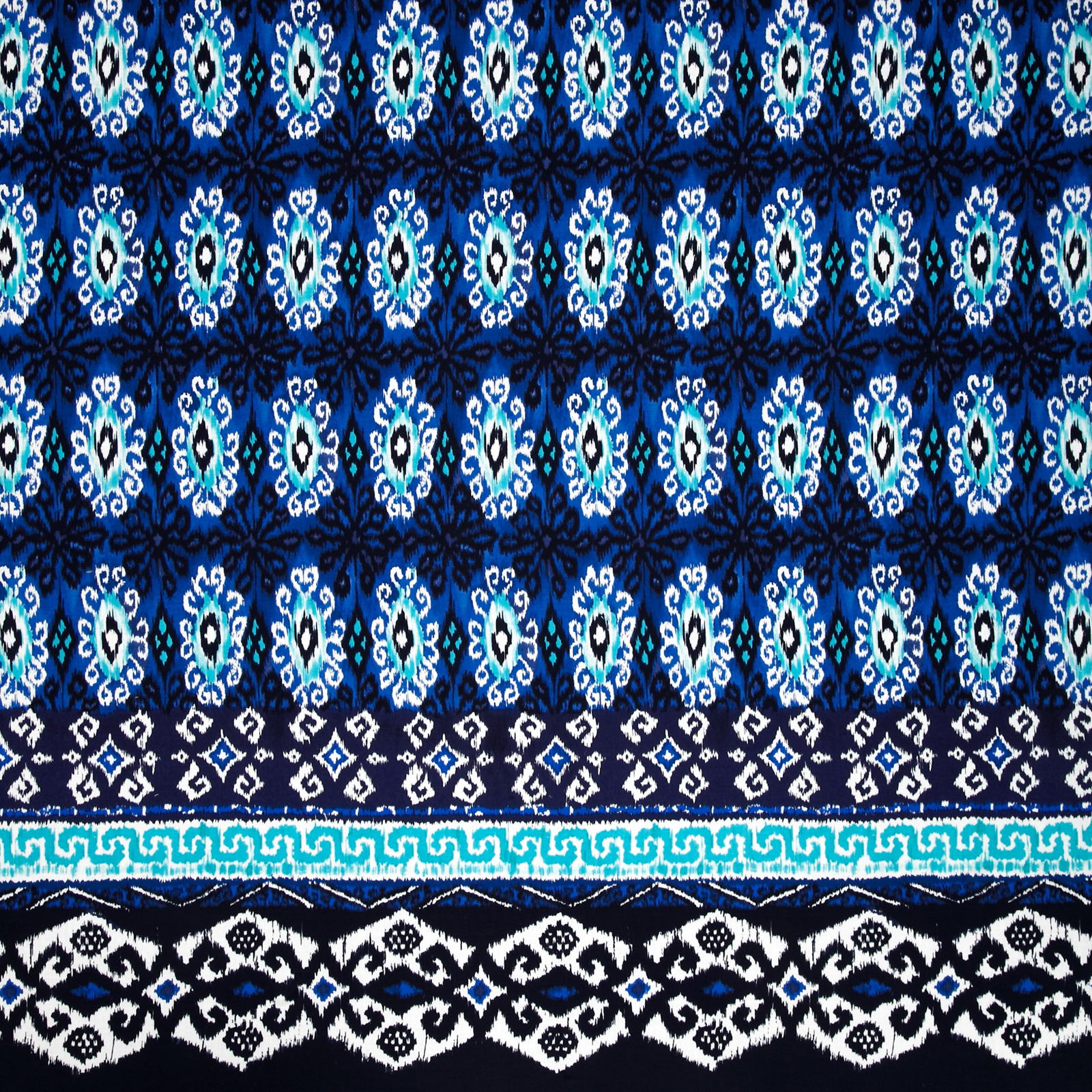 Michael Miller Single Border Kasbah Yasmin Indigo Fabric