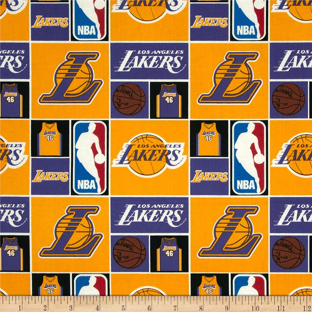 NBA Cotton Broadcloth LA Lakers Multi