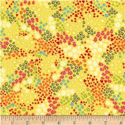 Timeless Treasures Tribeca Mixed Tiny Floral Yellow