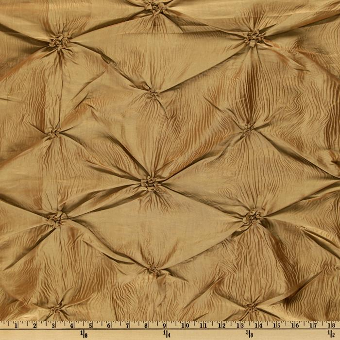 Rosette Iridescent Taffeta Antique Brown
