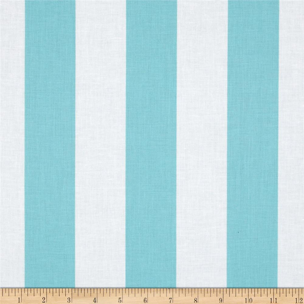 "Riley Blake 2"" Stripe Aqua"
