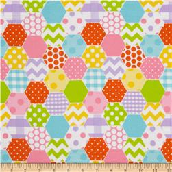 Riley Blake Hexi Print Flannel Girl