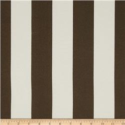 Premier Prints Indoor/Outdoor Premier Stripe Bay Brown Fabric
