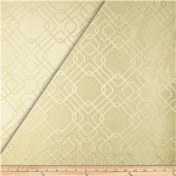 World Wide Rigel Metallic Geo Satin Jacquard Champagne