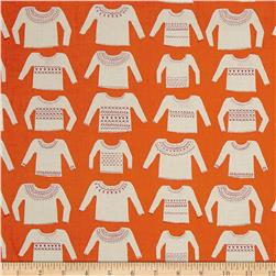 Cotton + Steel Cozy My Favorite Sweater Orange