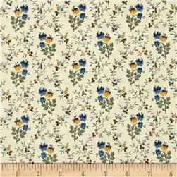 Molly's B's Flowers & Stems Taupe/Green/Blue