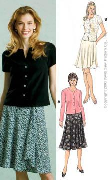 Kwik Sew Mock-Wrap Skirts and Tops Pattern