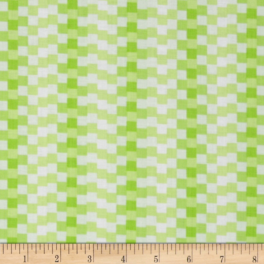 Ready Set Color! Check Lime Fabric